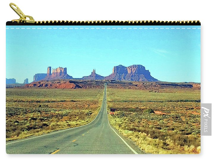 Monument Valley Utah Carry-all Pouch featuring the photograph Monument5 by George Arthur Lareau