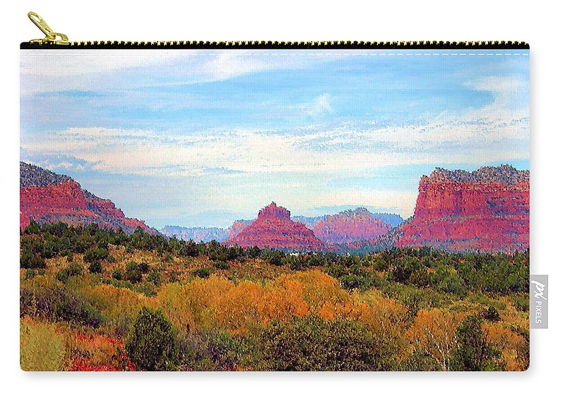 Monument Carry-all Pouch featuring the photograph Monumental Bell Rock Vista by Kristin Elmquist