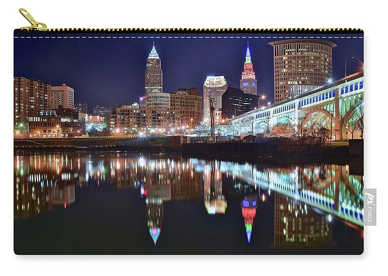 Cleveland Carry-all Pouch featuring the photograph Mood Lighting by Frozen in Time Fine Art Photography