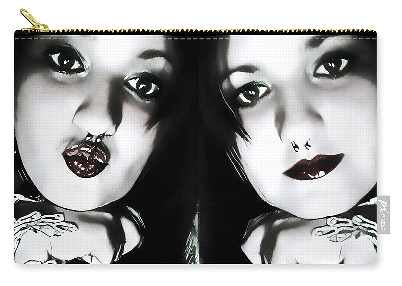 Artist Self Portrait Carry-all Pouch featuring the photograph Mood Swing by Tarisa Smith
