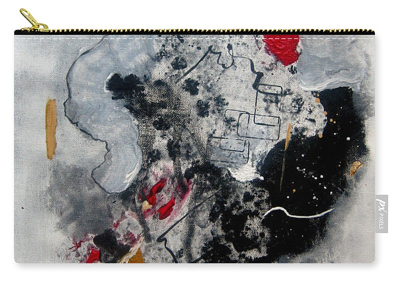 Abstract Carry-all Pouch featuring the painting Moods II by Ruth Palmer