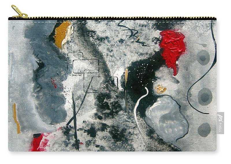 Abstract Carry-all Pouch featuring the painting Moods by Ruth Palmer
