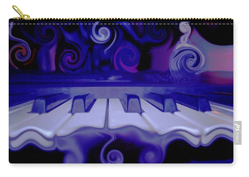 Music Carry-all Pouch featuring the photograph Moody Blues by Linda Sannuti