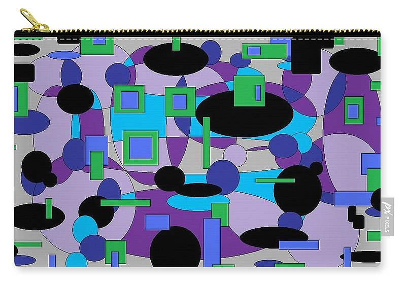 Digital Abstract Carry-all Pouch featuring the digital art Moody Purple by Jordana Sands