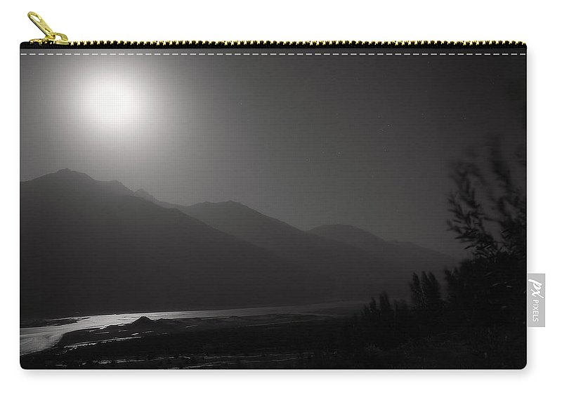 Asia Carry-all Pouch featuring the photograph Moon Above Pyandzh Valley by Konstantin Dikovsky