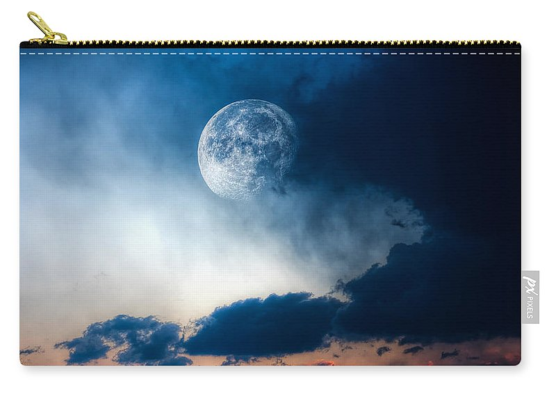 Sky Carry-all Pouch featuring the photograph Moon by Bob Orsillo
