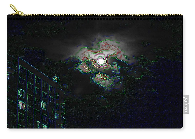 Moon Carry-all Pouch featuring the photograph Moon Glow by Tim Allen