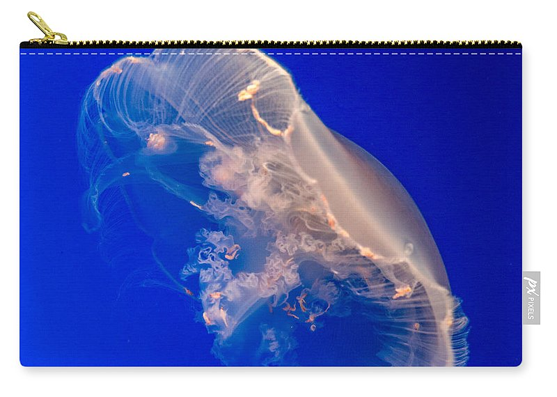 Jellyfish Carry-all Pouch featuring the photograph Moon Jelly Series #2 by Patti Deters