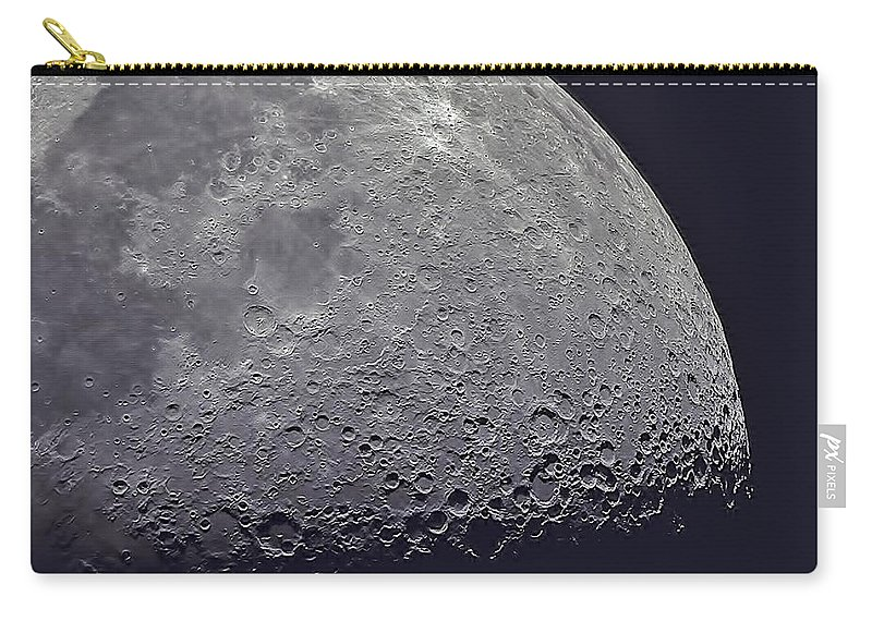 Moon Carry-all Pouch featuring the photograph Moon by JoAnn McDonald