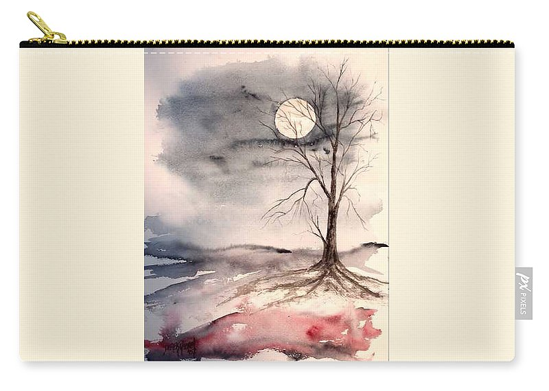 Moon Carry-all Pouch featuring the painting Moon Light by Derek Mccrea