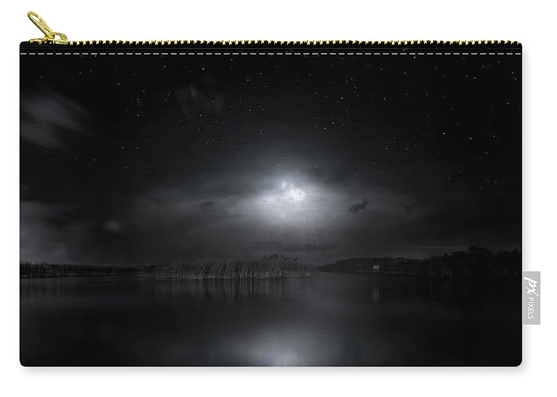 Moon Carry-all Pouch featuring the photograph Moon Music by Mark Andrew Thomas