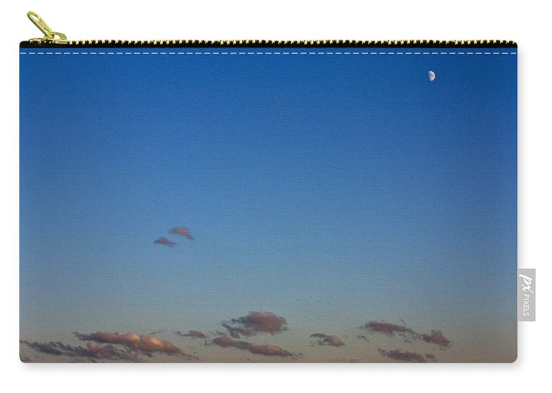 Moon Carry-all Pouch featuring the photograph Moon Over Clouds by Casper Cammeraat
