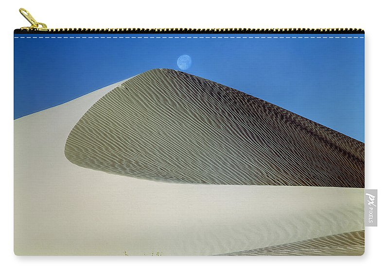 Moon Over Dune Carry-all Pouch featuring the photograph 214804-moon Over Dune by Ed Cooper Photography