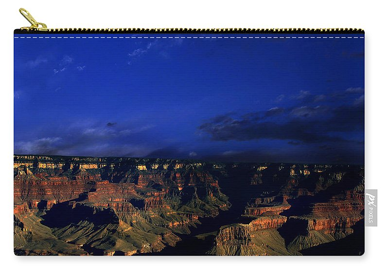 Grand Canyon Carry-all Pouch featuring the photograph Moon Over The Canyon by Anthony Jones