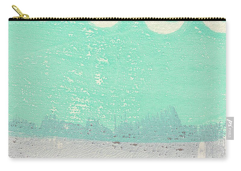 Abstract Carry-all Pouch featuring the painting Moon Over The Sea by Linda Woods