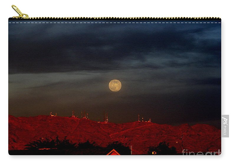 Patzer Carry-all Pouch featuring the photograph Moon Over Yuma by Greg Patzer