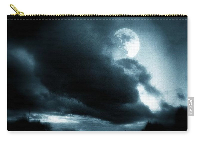 Moon Carry-all Pouch featuring the photograph Moon Rising by Aaron Berg
