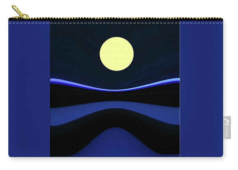 Moon Carry-all Pouch featuring the digital art Moon River by Claudia O'Brien