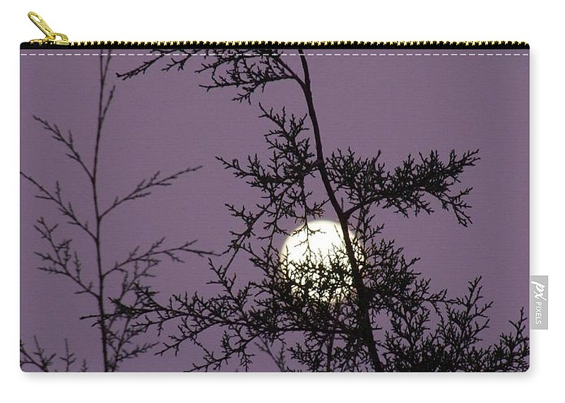 Mary Deal Carry-all Pouch featuring the photograph Moon Trees by Mary Deal