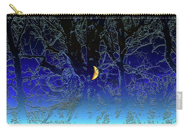 Moon Carry-all Pouch featuring the digital art Moondance by Marc Dettloff