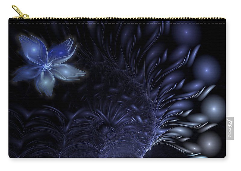 Abstract Carry-all Pouch featuring the digital art Moonflower by Casey Kotas
