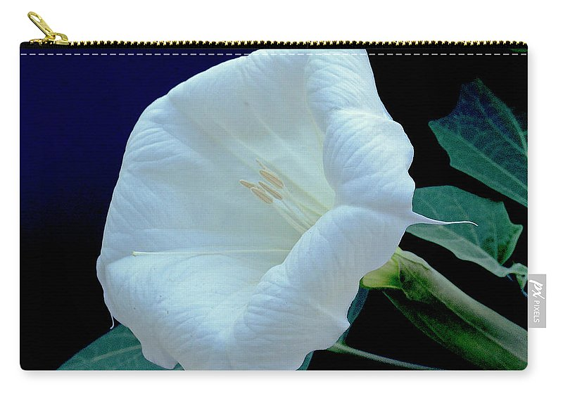 Carry-all Pouch featuring the photograph Moonflower by James Burton