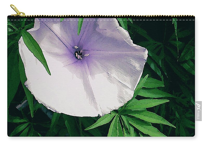 James Temple Carry-all Pouch featuring the photograph Moonflower by James Temple