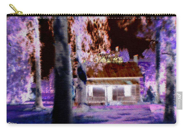 Cabin Carry-all Pouch featuring the digital art Moonlight Cabin by Seth Weaver