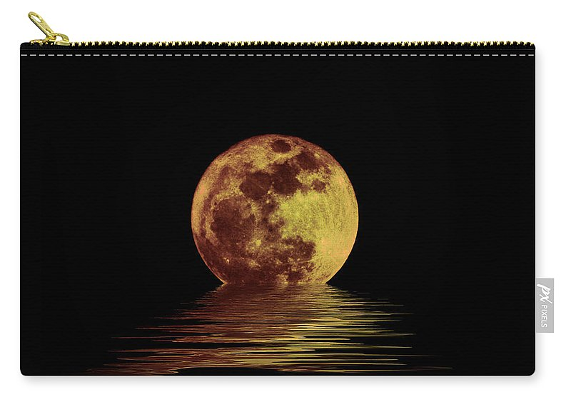 Moonlight On The Bay Carry-all Pouch featuring the photograph Moonlight On The Bay by Bill Cannon