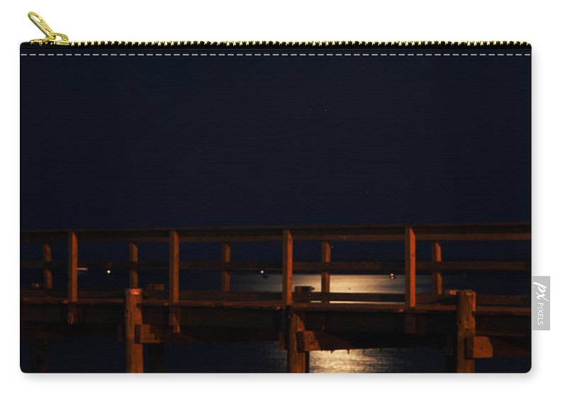 Clay Carry-all Pouch featuring the photograph Moonlight On Water by Clayton Bruster