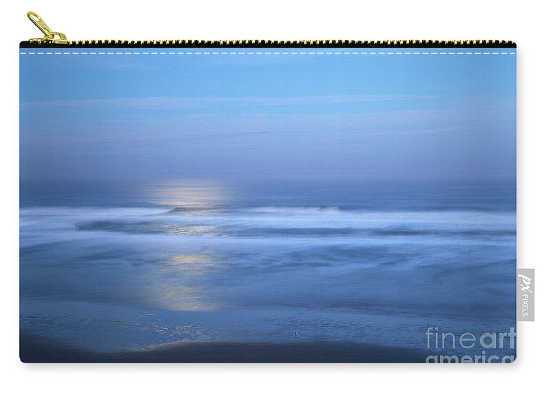 Moonlight Carry-all Pouch featuring the photograph Moonlight Over The Pacific by Bruce Block