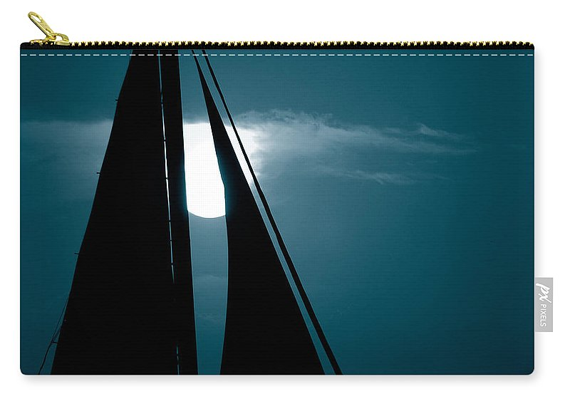 Sails Carry-all Pouch featuring the photograph Moonlight Sail by Susanne Van Hulst
