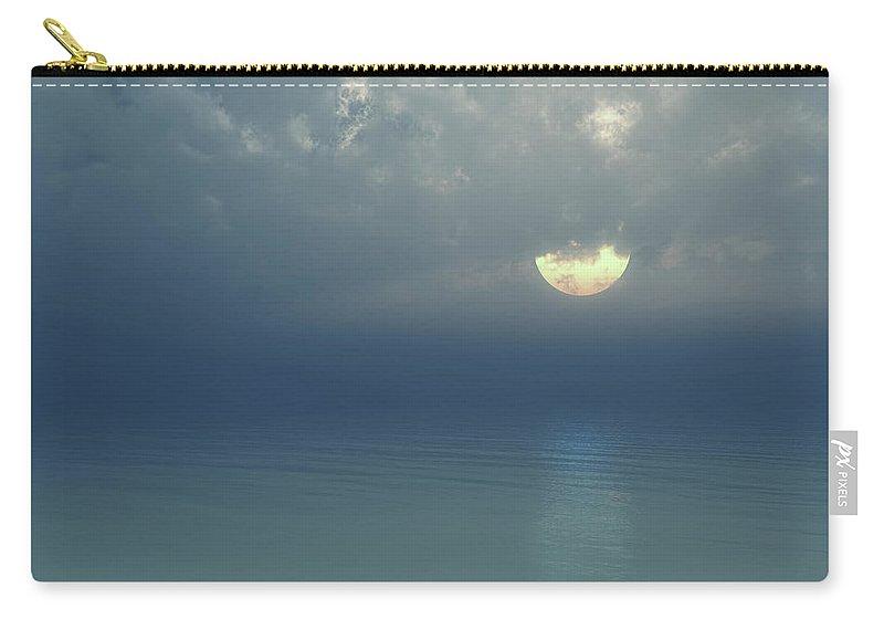 Moon Carry-all Pouch featuring the digital art Moonlight Serenade by Georgiana Romanovna