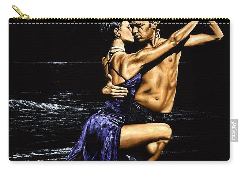 Moonlight Carry-all Pouch featuring the painting Moonlight Tango by Richard Young