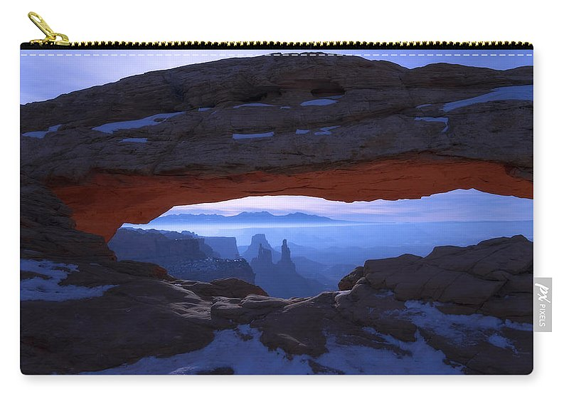 Moonlit Mesa Carry-all Pouch featuring the photograph Moonlit Mesa by Chad Dutson