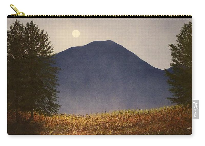 Mountains Carry-all Pouch featuring the painting Moonlit Mountain Meadow by Frank Wilson