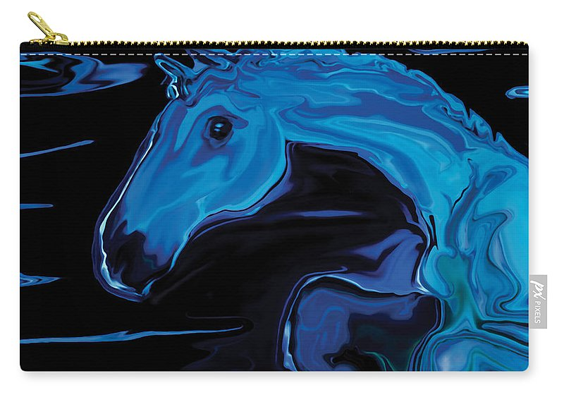 Animal Carry-all Pouch featuring the digital art Moonlit Run by Rabi Khan
