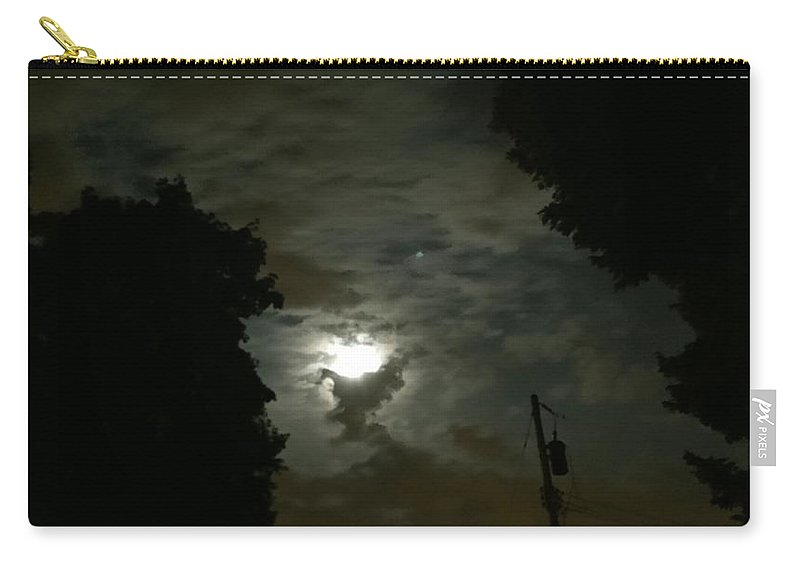 Moon Carry-all Pouch featuring the photograph Moonlit Strip by Eric Wait