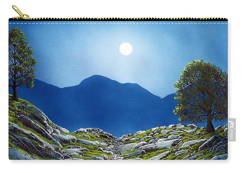 Landscape Carry-all Pouch featuring the painting Moonrise by Frank Wilson