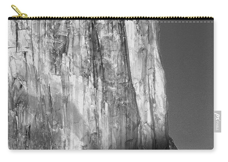 Moon Carry-all Pouch featuring the photograph M-m6506-e-bw-moonrise Over El Capitan At Sunset by Ed Cooper Photography