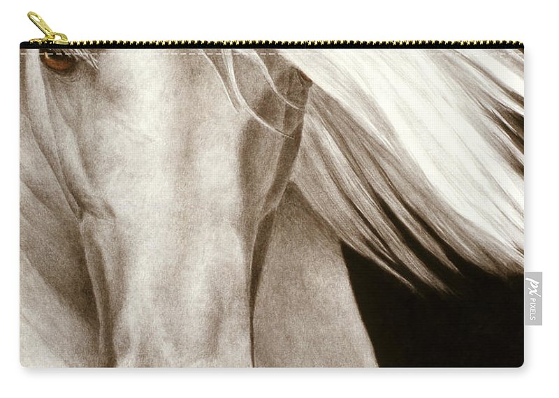 Horse Carry-all Pouch featuring the painting Moonrise by Pat Erickson