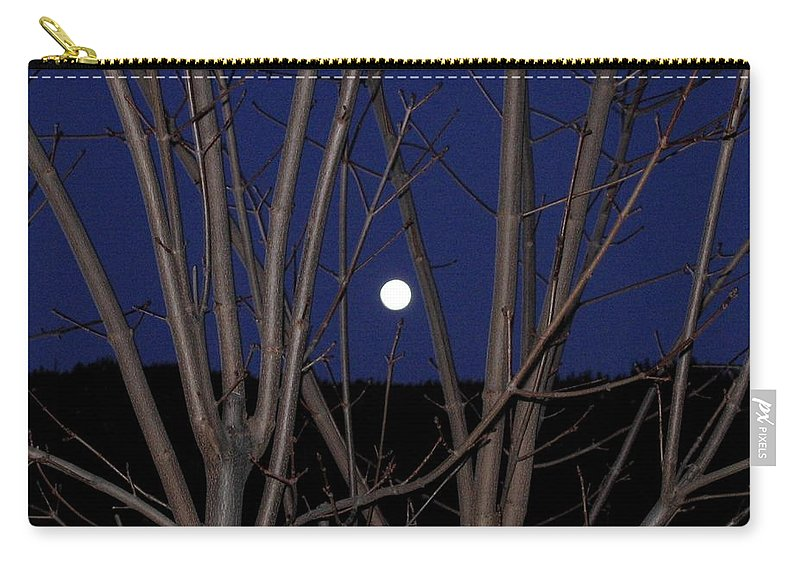 Moon Carry-all Pouch featuring the photograph Moonrise by Will Borden