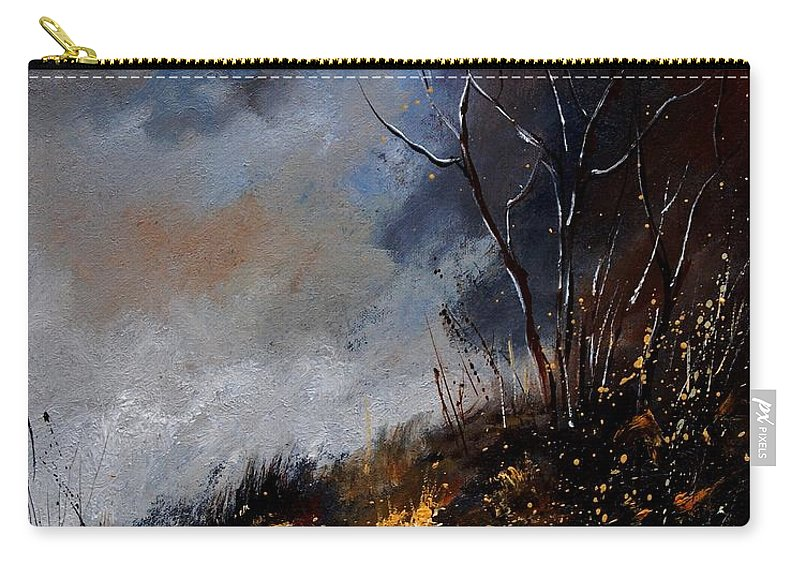 Winter Carry-all Pouch featuring the painting Moonshine 45901190 by Pol Ledent