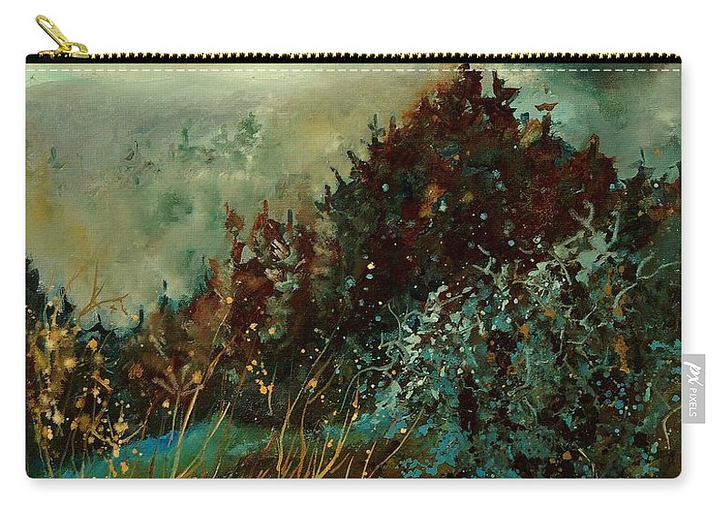 Tree Carry-all Pouch featuring the painting Moonshine 5642 by Pol Ledent
