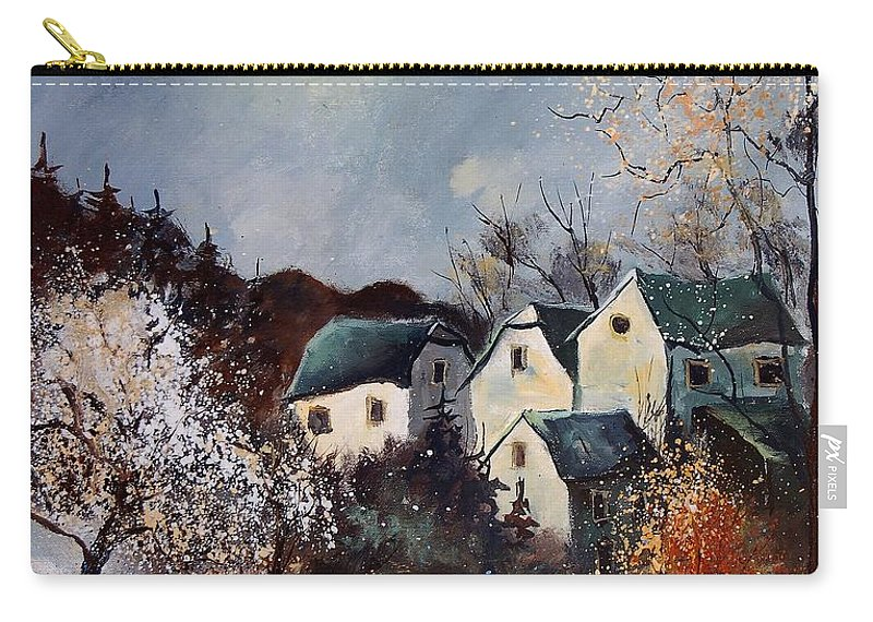 Village Carry-all Pouch featuring the painting Moonshine by Pol Ledent