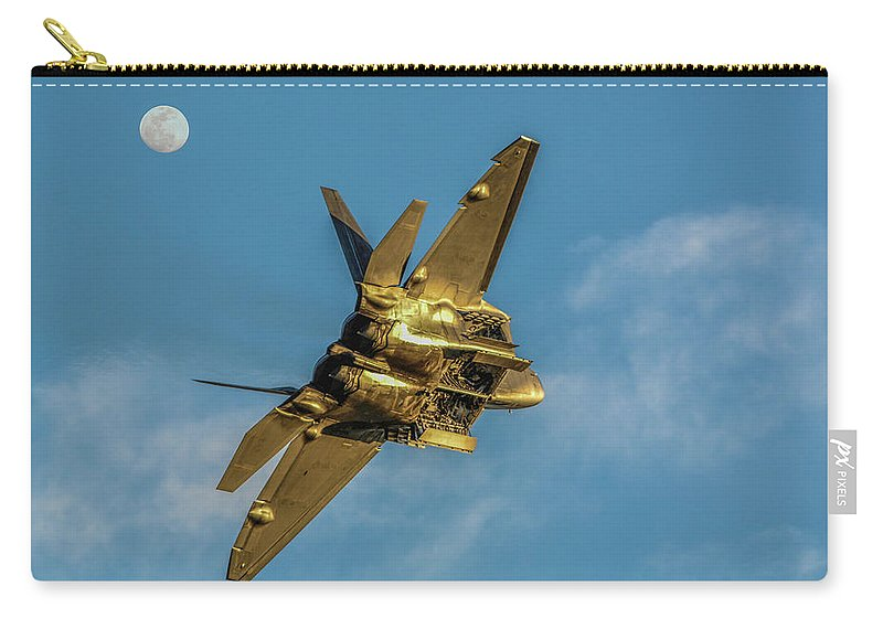Ca Airshow 2014 Carry-all Pouch featuring the photograph Moonshine Raptor by Tommy Anderson