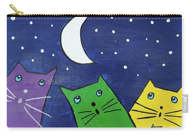 Sean Brushingham Carry-all Pouch featuring the painting Moonstruck by Artists With Autism Inc