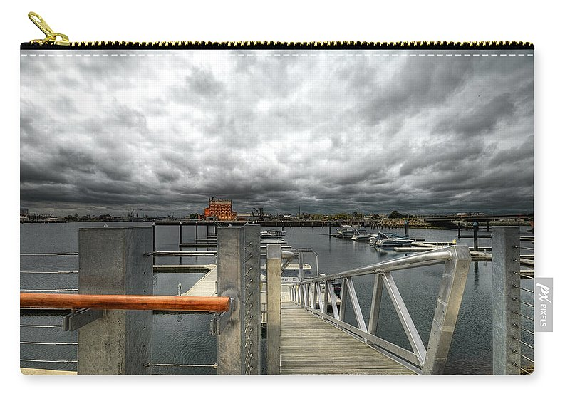 Moorings Carry-all Pouch featuring the photograph Moorings by Wayne Sherriff