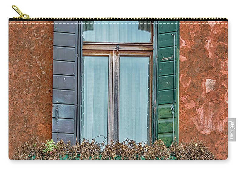 Italy Carry-all Pouch featuring the photograph Moorish Window And Texture Venice_dsc5350_03052017 by Greg Kluempers