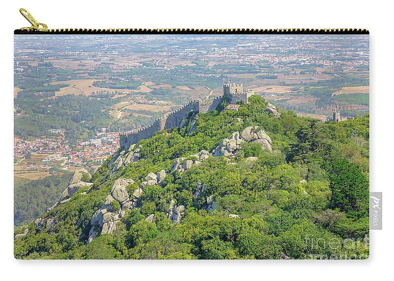 Sintra Carry-all Pouch featuring the photograph Moors Castle Aerial by Benny Marty